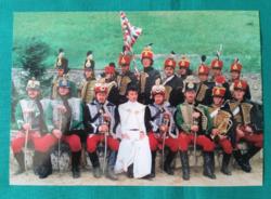 Balaton-felvidéki Radetzky Huszár Egyesület ,hagyományőrzés Sümeg, 1995.képeslap