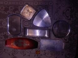Hét darab retro alumínium tálca - együtt