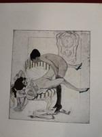 Erotikus sokszorosított litográfia!!!!