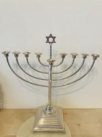 Ezüstözött Judaika Menóra Menorah