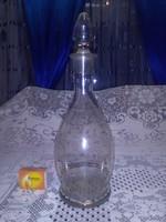 Parádi, apró pöttyös, aranyozott üveg kiöntő, karaffa, boros üveg