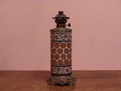 Antik korai ZSOLNAY petróleum lámpa