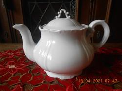Zsolnay Barokk, fehér tea kiöntő, teás kanna