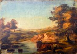 Antik festmény 1900-körűl