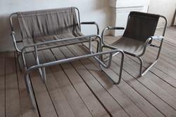 Fém űlőgarnitúra szett Bauhaus stílus