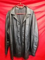 AKCIÓ!  50-52-es Mark & Spenser bélelt bőrkabát, férfi gombolású.