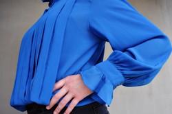 Gyönyörű vintage kék blúz