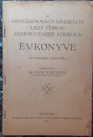 AZ ORSZ. MAGYAR KIRÁLYI LISZT F. ZENEMŰVÉSZETI FŐISKOLA ÉVKÖNYVE  1939 - 40