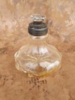 Antik parfümös üveg ezüst dianás jelzésű nyakkal
