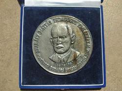 Szakály Mátyás jelzett 396g .835 ezüst emlékérem Budaörs (Állami Pénzverő) (id21089)