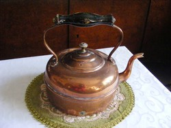 Gyönyörű, antik, vörösréz,  kb. 1 literes teáskanna