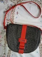 Calvin Klein táska eredeti új bőr piros szürke válltáska