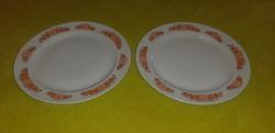 Zsolnai lapos tányér 2db