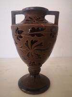Bozsik Kálmán kunszentmártoni szecessziós kerámia váza