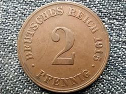 Németország Második Birodalom II. Vilmos (1888-1918) 2 Pfennig 1915 D (id43901)