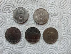 Anglia 5 darab 1 crown - 25 pence - pound LOT ! 28 grammos érmék  06