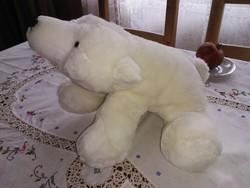 Fehér plüss medve maci jegesmedve nagy méretű