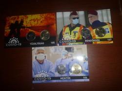A hősök Tiszteletére kiadott Mentők,Tűzoltók ,Rendőrség bliszter!  BU, Ritka!