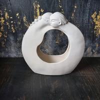 Biszkvit porcelán szobor (virágtartó)