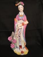 Nagy méretű porcelán Kuan Yin szobor