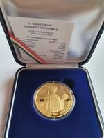 ! 2021.évi 500000 Forint Szent István arany UNC, MNB tanúsítvánnyal, tájékoztatóval