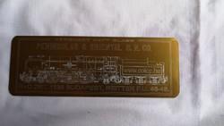 Peninsular & oriental S.N. Co plakett eredeti dobozában