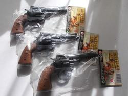 3 darab retro játék patronos pisztoly