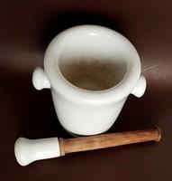 Antik Drasche porcelán patikai mozsár és törő