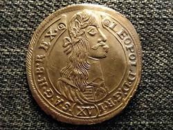 I. Lipót (1657-1705) ezüst 15 Krajcár (1677-1695) 1677 KB (id20950)