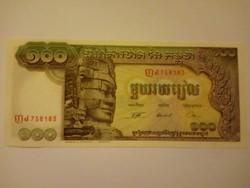 Unc 100 Riels  Kambodzsa 1972  !!
