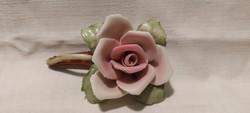 Jelzett régi porcelán rózsa