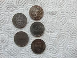 Anglia 5 darab 1 crown - 25 pence - pound LOT ! 28 grammos érmék  07