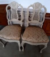 Chippendale vintage,dúsan faragott szék párban.