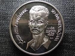 MÉE Szegedi Csoport József Attila 1987 PP ezüst piefort 72g csak 55 db! (id48279)