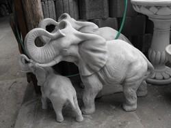 Ritka Nagy Indiai Elefánt 95cm  Japán kerti Keleti kertépítő Műkő tömör szobor különlegesség