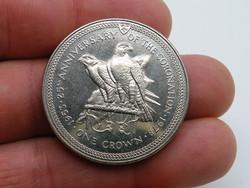KK1213 1978 MAN sziget  25 pence érme Isle of Man One crown sólymok