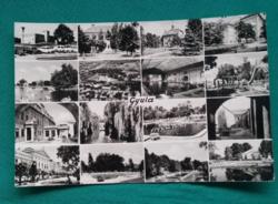 Gyulai részletek- képeslap, város,gyógyfürdő, 1967.
