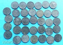 1940 1941 1942 1943 1944 KOMPLETT cink német 1 pfennig - náci Reichspfennig sor, mind a 34 db!