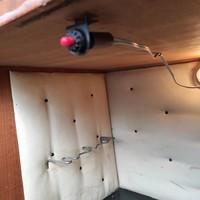 Midcentury bar szekrény/koktél szekrény kapcsoló gomb, fehér