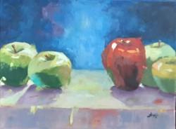 Antyipina Galina: Almák, olajfestmény, vászon, 30x40cm