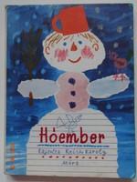 Hóember - kemény lapos, régi képeskönyv Reich Károly rajzaival (1982)