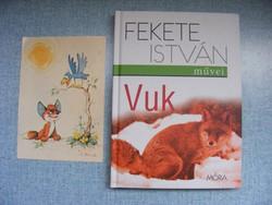 Retro Vuk képeslap és új  Vuk mesekönyv együtt
