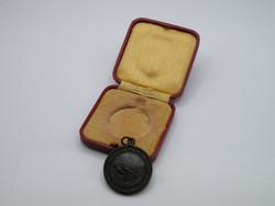 KK1219 1932 Bronz életmentő medál eredeti dobozában