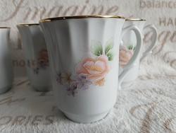 Apulum román virágos bögre -6 db