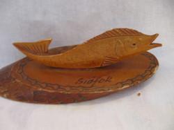 Balaton, Siófok retro fa hal emléktárgy