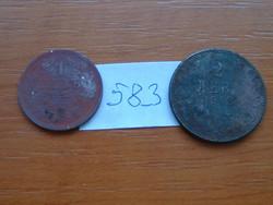 BULGÁRIA 1 LEV 1925 without mintmark (Mint of Brussels) 2 LEVA 1943 A Berlin, (A pénzverde) #583