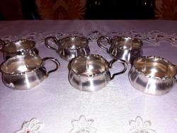 Ezüstözött antik pohártartók