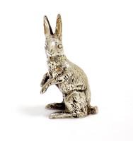 Ezüst nyúl miniatűr figura (ZAL-BI40171)