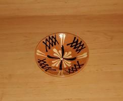Retro mázas kerámia falitányér 15 cm (n)