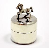 Ezüst lovas fogtartó dobozka (ZAL-Ag89969)